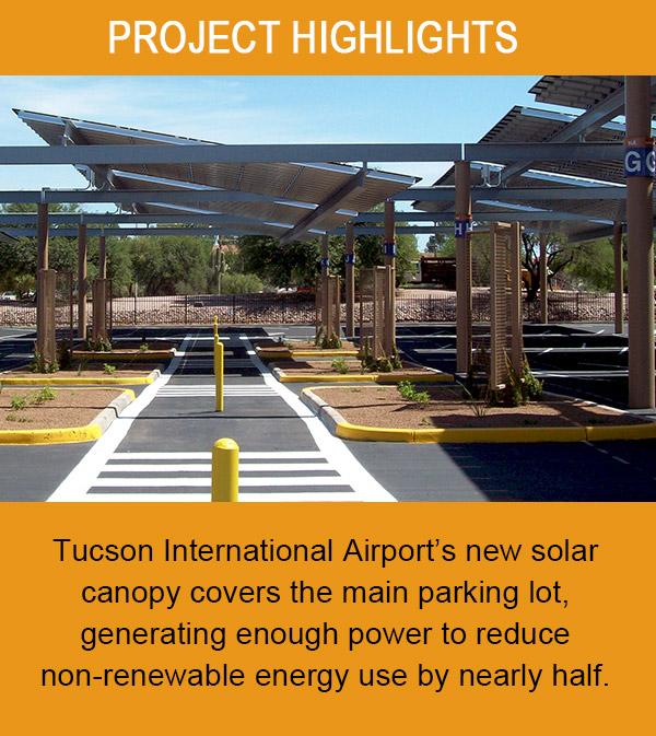Tucson International Airport's Solar Canopy